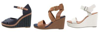 Flotte Tommy Hilfiger sandaler med kilehæl til kvinder