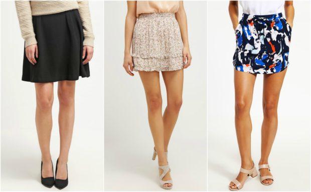 Feminine og flotte korte nederdele fra Vero Moda til kvinder